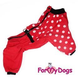 ForMyDogs Комбинезон для собак крупных пород из флиса, размер С3, модель для девочек