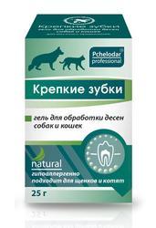 Пчелодар Крепкие зубки гель для обработки десен собак и кошек 25мл