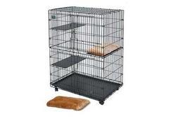 MidWest Лежанка Plush Cat Bed плюшевая 25х50 см в клетку Cat Cage (арт.130)