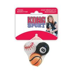Kong Игрушка для собак Air Sport Теннисный мяч очень маленький (3 шт. в уп.) 4 см без пищалки