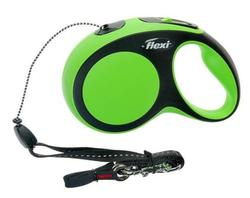 Flexi Рулетка New Comfort S (до 12 кг) трос 8 м черный/зеленый