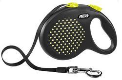 Flexi Рулетка Design лента 5 м черный/желтый горох