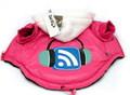 I's Pet Куртка утепленная, с капюшоном, розовая, размер S