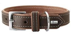 Hunter Ошейник для собак Porto натуральная кожа коньячный/темно коричневый