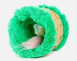 Zoobaloo Когтеточка сизалевая Круг Мышка 15х14х13 см