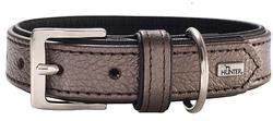 Hunter Ошейник для собак Capri 45 (33-39)/2,8 см натуральная кожа коричневый перламутр/черный