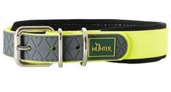 Hunter Ошейник для собак Convenience Comfort 50 (37-45 см)/2,5 см биотановый мягкая горловина желтый неон