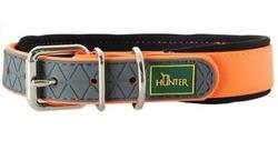 Hunter Ошейник для собак Convenience Comfort биотановый мягкая горловина оранжевый неон