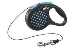 Flexi Рулетка Design XS (до 8 кг) 3 м трос черная/голубой горох
