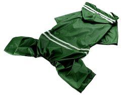 Al1 Дождевик для больших собак зеленый, размер 7XL, спина 65см
