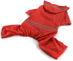 Al1 Дождевик для больших собак красный, размер 7XL, спина 65см