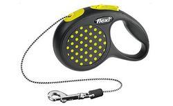 Flexi Рулетка Design трос черный/желтый горох