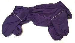 ZooTrend Дождевик для средних пород собак, фиолетовый, размер 3XL, спина 47см