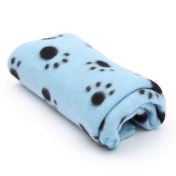 Al1 Плед для собак голубой с лапками, размер 60х70см