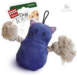GiGwi Игрушка для собак Кот с пищалкой, 15см