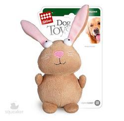 GiGwi Игрушка для собак Кролик с пищалкой, 16см