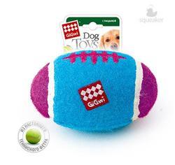 GiGwi Игрушка для собак Мяч-регби с пищалкой большой 17см
