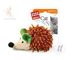 GiGwi Игрушка для кошек Ёжик с электронным чипом, 7см