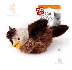 GiGwi Игрушка для кошек Птичка со звуковым чипом, 6см