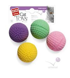 GiGwi Игрушка для кошек 4 мячика*4см
