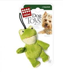 GiGwi Игрушка для собак Лягушка с пищалкой 9см