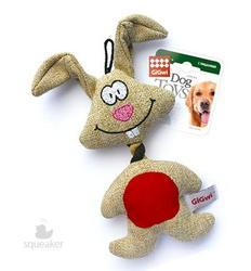 GiGwi Игрушка для собак Заяц с пищалкой, 20см