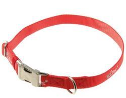 V.I.Pet Ошейник регулируемой длины, металл, фастекс, красный