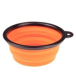 Al1 Складная миска для собак и кошек оранжевая, 250мл