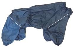 LifeDog Дождевик для больших пород собак, синий, размер 6XL, спина 66см