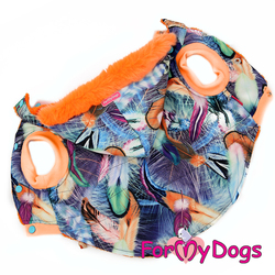 ForMyDogs Куртка для крупных собак фиолетовая/оранж, размер C3