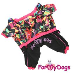 ForMyDogs Дождевик для собак мультиколор, модель для девочек, размер 12