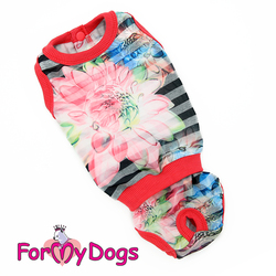 "ForMyDogs Боди для собак ""Лилия"", размер 8, 10, 12, 14, 16, 18, 20"