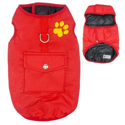 Al1 Куртка для средних пород собак, красная, размер XL, длина спины 37см