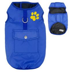 Al1 Куртка для средних пород собак, синяя, размер XL, длина спины 37см