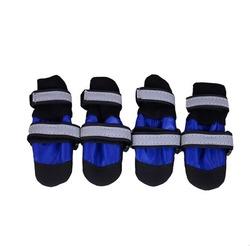 Al1 Ботиночки-носочки для средних пород собак, цвет черный/синий, размер S