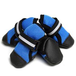 Al1 Ботинки для собак синие, размер L