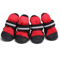 Al1 Ботинки для собак красные, размер XL