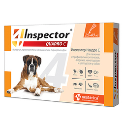 Экопром Inspector Квадро капли для собак от 25 кг до 40 кг от наружных и внутренних паразитов