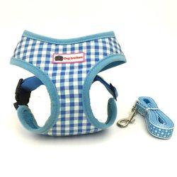 Al1 Шлейка для собак голубая, размер S