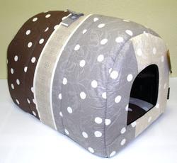 DOGMAN Тоннель для такс, Микс коричневый, бязь, размер 58х36х36см.