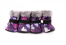 ZooPrestige Сапожки для собак, цвет фиолетовый/Собачки, размер XS
