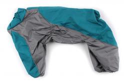ZooPrestige Дождевик для собак, изумруд, размер 2XL, спина 38-42см.