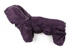 ZooAvtoritet Дождевик для собак Дутик, баклажан, размер M, спина 27-31см