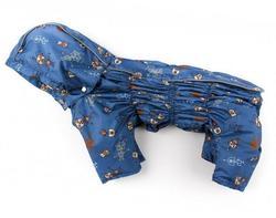ZooPrestige Дождевик для собак Дутик, синий/робот, размер М