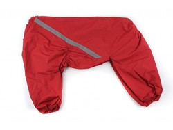 ZooPrestige Дождевик для больших пород собак, красный, размер 5XL, спина 60см