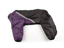 ZooPrestige Комбинезон утепленный, Боксер, фиолетовый/черный, размер 5XL, спина 60см