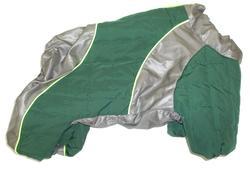 LifeDog Комбинезон для мопса, зеленый, синтепон, размер 5, спина 33-35см