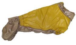 LifeDog Комбинезон для таксы, утепленный, на синтепоне бежевый размер №4, спина 50-52см