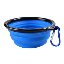 Al1 Складная миска для собаки кошек зеленая, 250мл