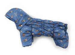 ZooAvtoritet Комбинезон для собак Дутик, синий/робот, размер S, L флис